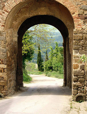 Montalcino Photograph - What Lies Ahead by Ellen Henneke