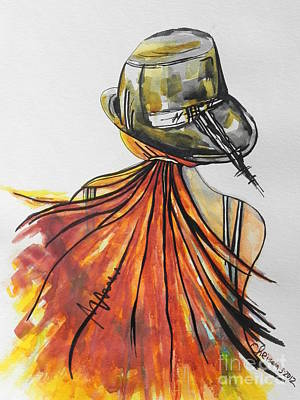 Mix Medium Painting - What Lies Ahead Series  I Found Me by Chrisann Ellis