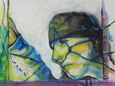 Mix Medium Painting - What Lies Ahead Series... The Lows by Chrisann Ellis