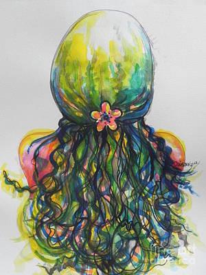 What Lies Ahead Series...tangled Up Art Print by Chrisann Ellis