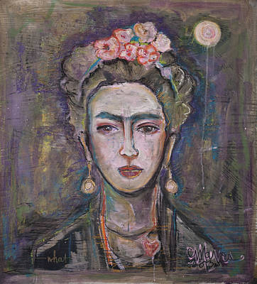 Painting - What. Love For Frida 2013 by Laurie Maves ART