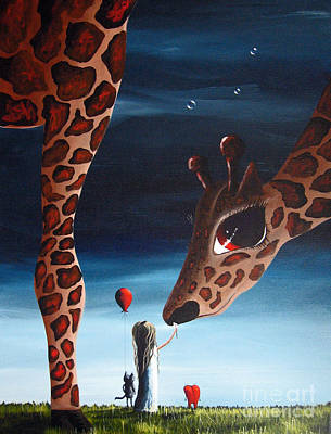 Giraffe Eyes Painting - What Matters Most By Shawna Erback by Shawna Erback