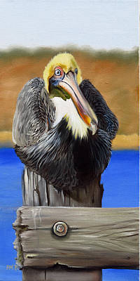 What Pelicans Do 1 Original by Phyllis Beiser