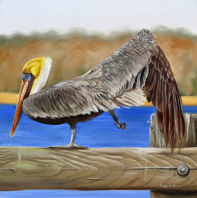 What Pelicans Do 2 Original by Phyllis Beiser