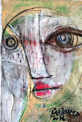 Painting - What Remains Portrait #1 by Laurie Maves ART