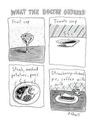 Strawberries Drawing - What The Doctor Ordered by Roz Chast
