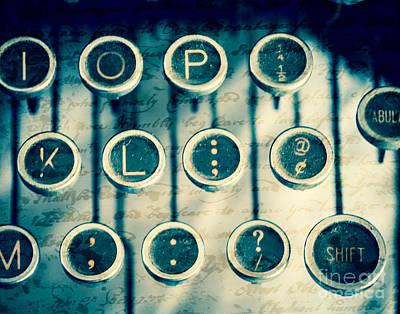 Typewriter Keys Photograph - What To Say by Sonja Quintero