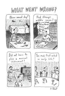 First-family Drawing - What Went Wrong? by Roz Chast