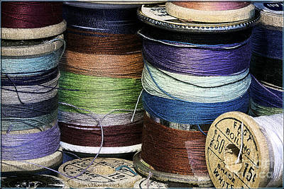 Spools Of Thread Art Print by Jean OKeeffe Macro Abundance Art