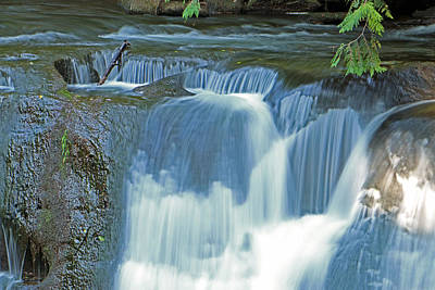 Word Signs - Whatcom Falls Frozen in Time by Brad Walters