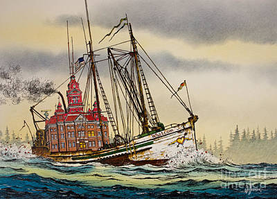 City Hall Painting - Whatcom Maritime by James Williamson