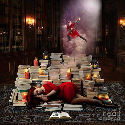 Library Digital Art - Whatever You May Dream by Linda Lees