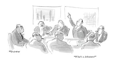 Incompetent Drawing - What's A Debenture? by James Stevenson