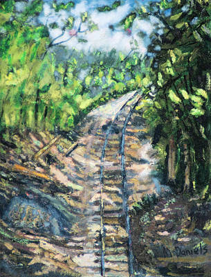 Art Print featuring the painting What's Around The Bend? by Michael Daniels