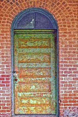 What's Behind The Green Door Art Print by Larry Bishop