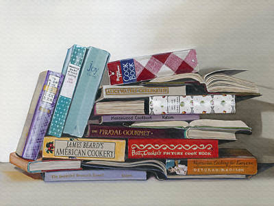 Cookbooks Painting - What's Cookin' by Gail Chandler
