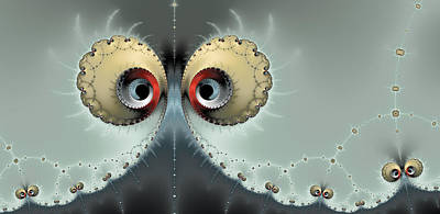 Modern Fractal Art Photograph - Whats Going On - Fractal Eyes Watching You by Matthias Hauser