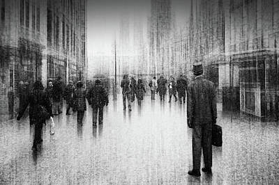 Charcoal Photograph - What's Going On Inside Of The City? by Roswitha Schleicher-schwarz