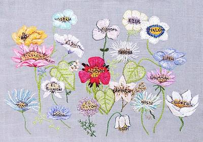 Tapestry - Textile - What's In A Flower by Stephanie Callsen