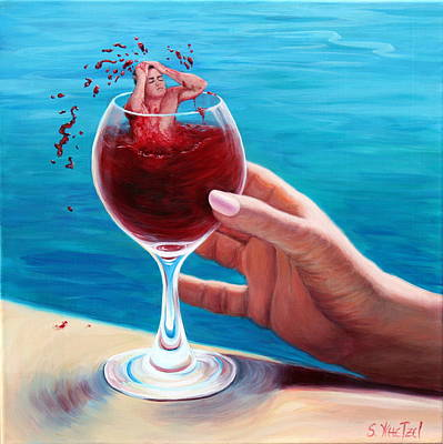 Painting - What's In Your Goblet? by Sandi Whetzel
