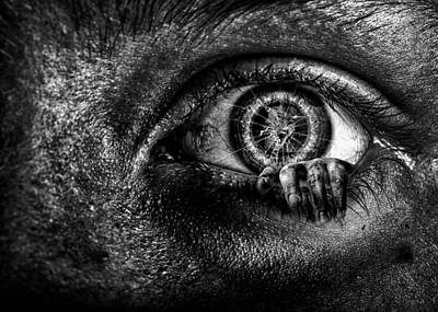 Bizarre Photograph - What's Inside by Joshua Minso