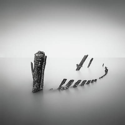 Shipwreck Wall Art - Photograph - What's Left Behind by Christophe Staelens