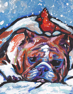 English Bulldog Painting - Whats On My Head by Lea S
