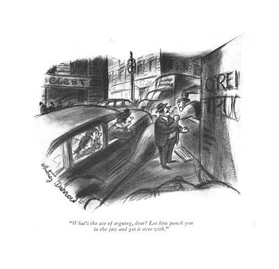 Punch Drawing - What's The Use Of Arguing by Whitney Darrow, Jr.