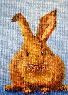Bunny Painting - What's Up? by Nancy Merkle
