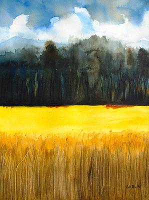 Wheat Field 1 Art Print by Carlin Blahnik