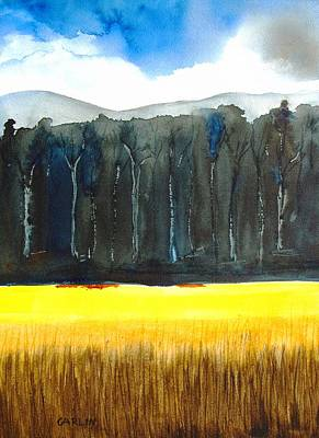 Painting - Wheat Field 2 by Carlin Blahnik CarlinArtWatercolor