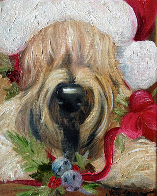 Santa Claus Painting - Wheaten Claus by Mary Sparrow