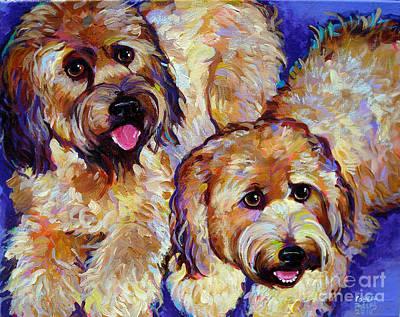 Wheaten Terriers Art Print by Robert Phelps