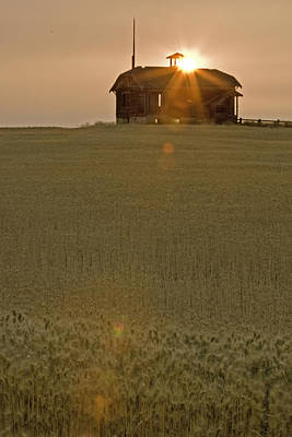 Photograph - Wheatfield Sunset by Judi Baker