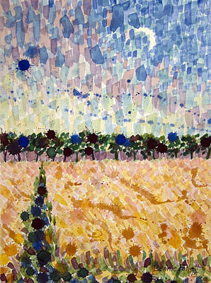 Painting - Wheatfields At Dusk by Bonnie Follett