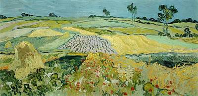Nederland Painting - Wheatfields Near Auvers-sur-oise by Vincent van Gogh