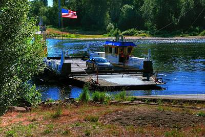 Jerry Sodorff Royalty-Free and Rights-Managed Images - Wheatland Ferry 16087 by Jerry Sodorff