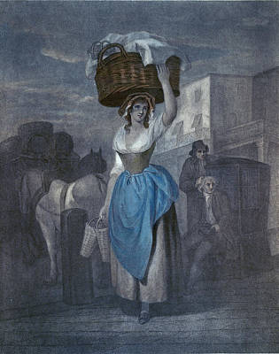 Crying Drawing - Wheatleys Cries Of London, Uk, Strawberrys Scarlet by Wheatley, Francis, R.a. (1747-1801), English