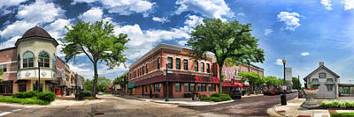 Wheaton Front Street Panorama Art Print by Christopher Arndt