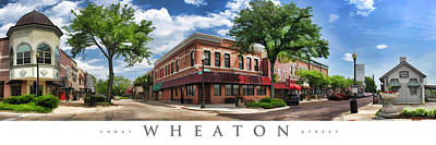 Painting - Wheaton Front Street Panorama Poster by Christopher Arndt