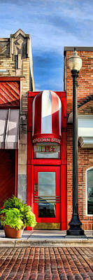 Wheaton Little Popcorn Shop Panorama Art Print