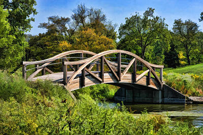 Painting - Wheaton Northside Park Bridge by Christopher Arndt