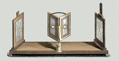 Daguerreotype Photograph - Wheatstone's Reflective Stereoscope by Sheila Terry