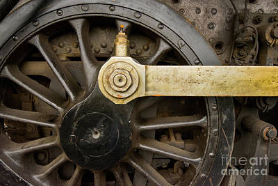 Wheel And Drive Rod Print by Paul W Faust -  Impressions of Light