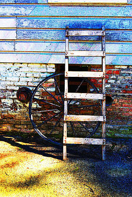 Photograph - Wheel And Ladder by Holly Blunkall