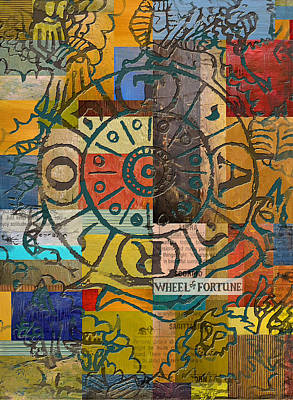 Kabbalah Painting - Wheel Of Fortune by Corporate Art Task Force