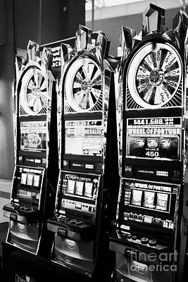 wheel of fortune slot gaming gambling machines Las Vegas Nevada USA Art Print