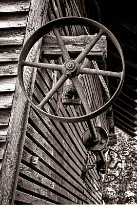 Corn Crib Photograph - Wheel Of Labor  by Olivier Le Queinec