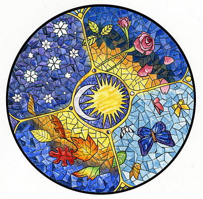 Calendar Painting - Wheel Of The Year by Antony Galbraith
