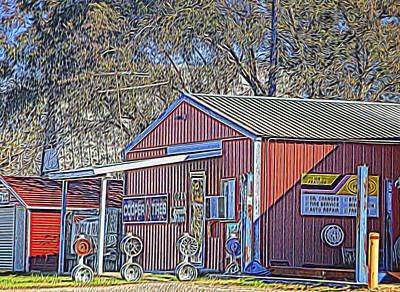 Wheel Sales Barn Original by Linda Phelps